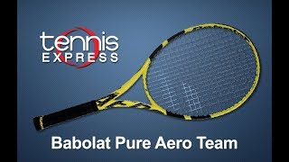 Babolat 2019 Pure Aero Team Tennis Racquet Review | Tennis Express