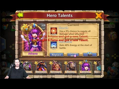 Rolling For 5 Revitalize On Athene 30k Gems For Talents Castle Clash