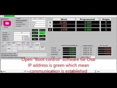 Connecting CNC Osai Open controller to network