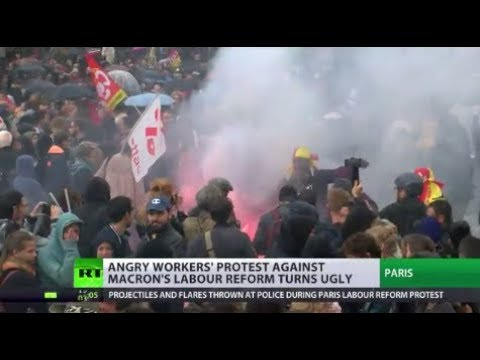 French Unrest: Workers mass protests at Macron's labour reforms turn violent