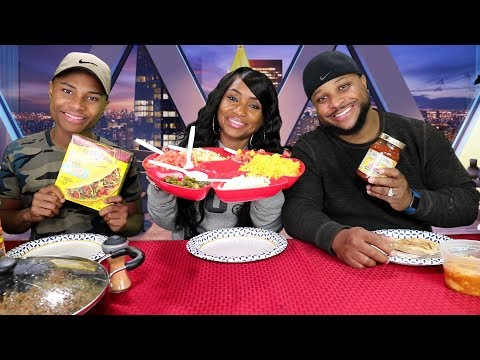 Taco Tuesday Mukbang with the Fam Bloves 1st Eating Video w Braces