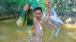 Cooking Chicken Soup With Bamboo Recipe In Forest | Chicken Soup Recipe