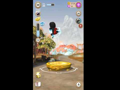 Clumsy Ninja Bouncing so cool with Ninja Juice