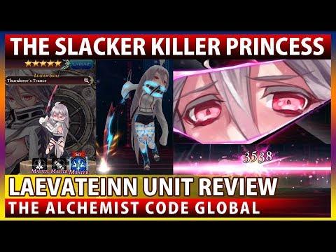 Laevateinn Unit Review - The Trolling Slacker Princess? (The Alchemist Code GLOBAL)