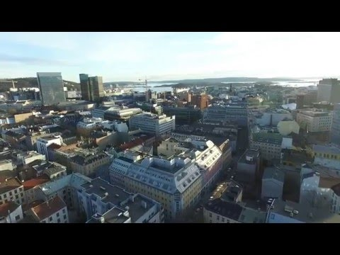 Norway Oslo-Sarpsborg relaxing drone video. P3A
