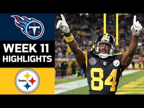 Titans vs. Steelers | NFL Week 11 Game Highlights