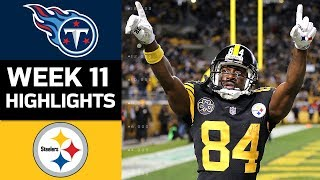 Titans vs. Steelers | NFL Week 11 Game Highlights