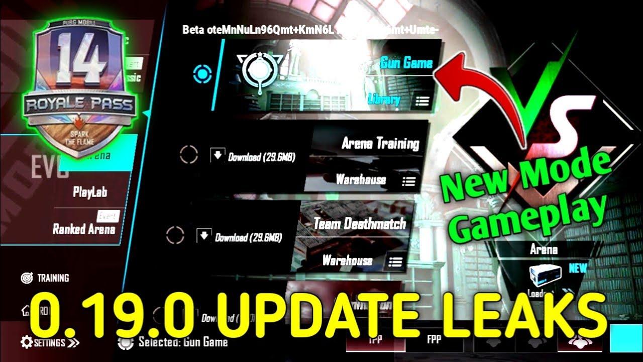 SEASON 14 UPDATE | NEW MODE GAMEPLAY | PUBG MOBILE 0.19.0 NEW LEAKS