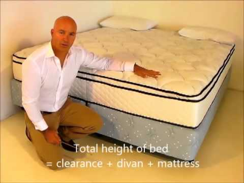Height of a divan bed luxury beds and mattresses for Divan bed height