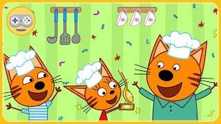 Три Кота Кулинарное шоу Кухня - Каша от друзей и семьи * мультик игра для детей