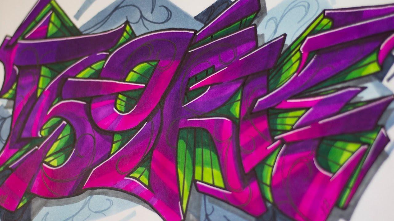 Graffiti sesion bork en papel sorteo youtube - Graffitis en papel ...