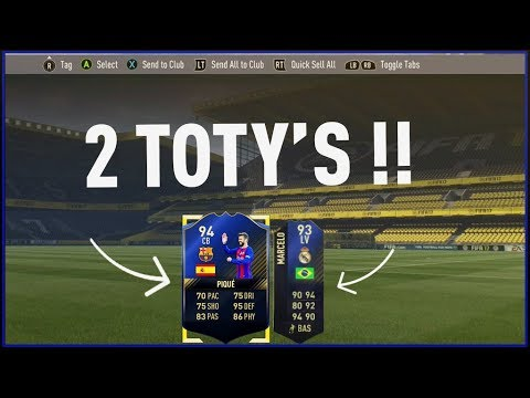 Best Two Player Packs In The History Of Fifa 17 2 TOTYS In A Pack ! Ultimate Team