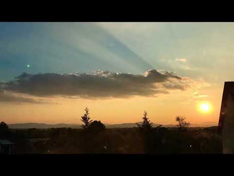 Timelapse sunset Fót (Hungary)