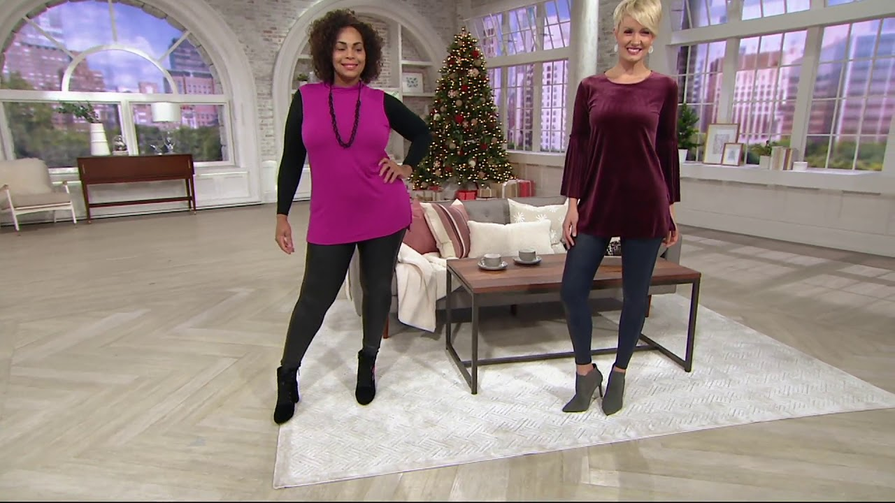 53ee439bc53 Spanx Faux Leather Leggings on QVC - YouTube