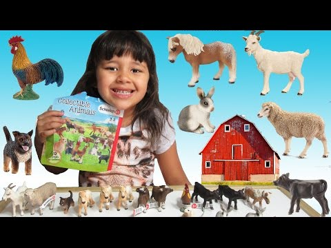 Schleich Blind Bags Farm Life - Learn Farm Animal Names and Sounds