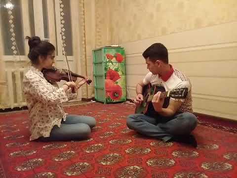 "Turkmen talant - ""LEZGINKA""    GITARA +SKRIPKA /bet caldylar."