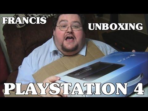 Francis Unboxing a Playstation 4