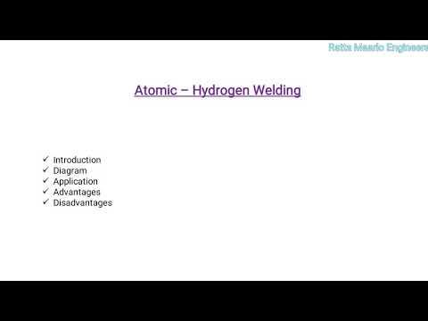 Atomic - Hydrogen Welding Process (In Hindi)