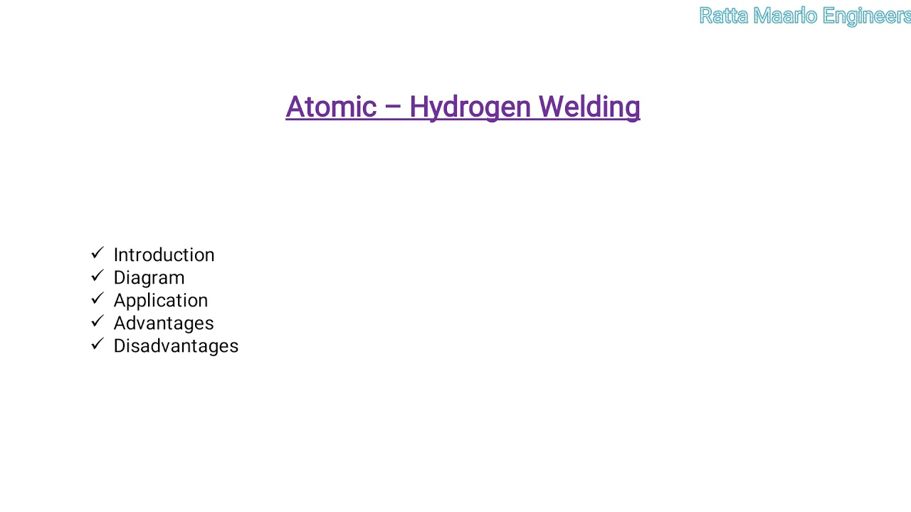 Atomic Hydrogen Welding Process In Hindi Youtube Diagram Of