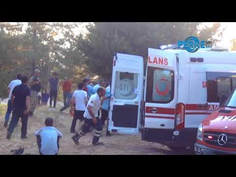 Minibüs Şarampole Devrildi 8 Kişi Yaralandı