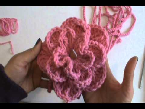 4 DE 4 COMO TEJER BUFANDA DECORATIVA DE FLOR GANCHILLO CROCHET , YouTube