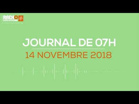 Le journal de 07h du 14 Novembre 2018 - Radio Côte d'Ivoire