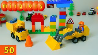 Машинки мультфильм - Спецтехника Lego - Город машинок - 50 серия. Развивающие мультики mirglory