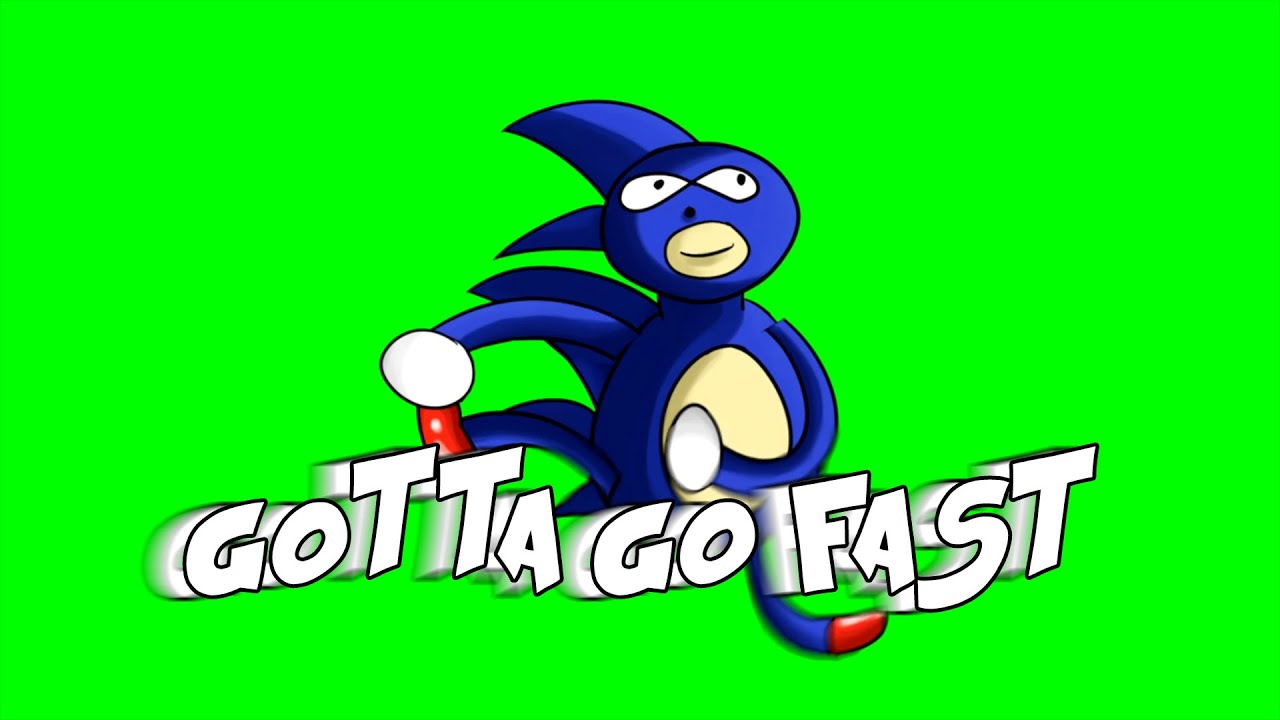 Sanic Run Green-Screen (Animation) - YouTube
