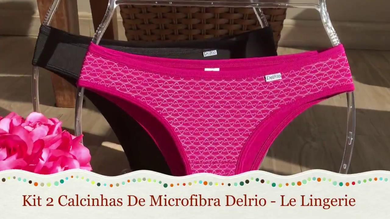f8d280cbf Kit 2 Calcinhas De Microfibra Delrio 51169 - Le Lingerie - YouTube