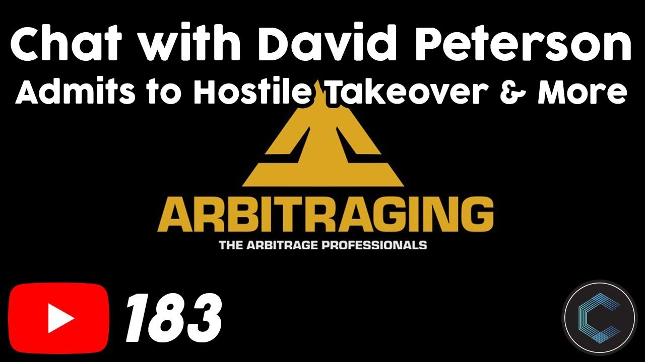 David Peterson CEO of Arbitraging.co ARB Admits to Hostile Takeover & more on Telegram Chat