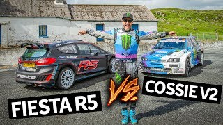 Download What's Faster?? Ken Block's Cossie V2 vs Brand New Ford Fiesta R5 Mp3 and Videos