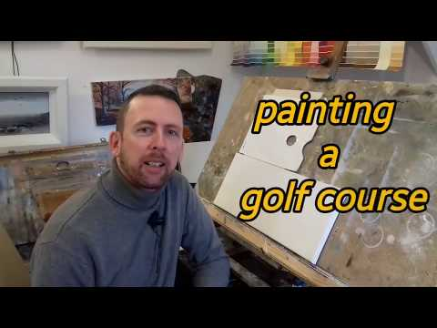 Step by Step How to Paint a Golf Course