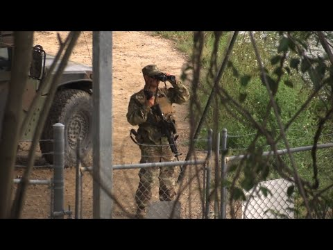 Raw: National Guard Troops on US-Mexico Border