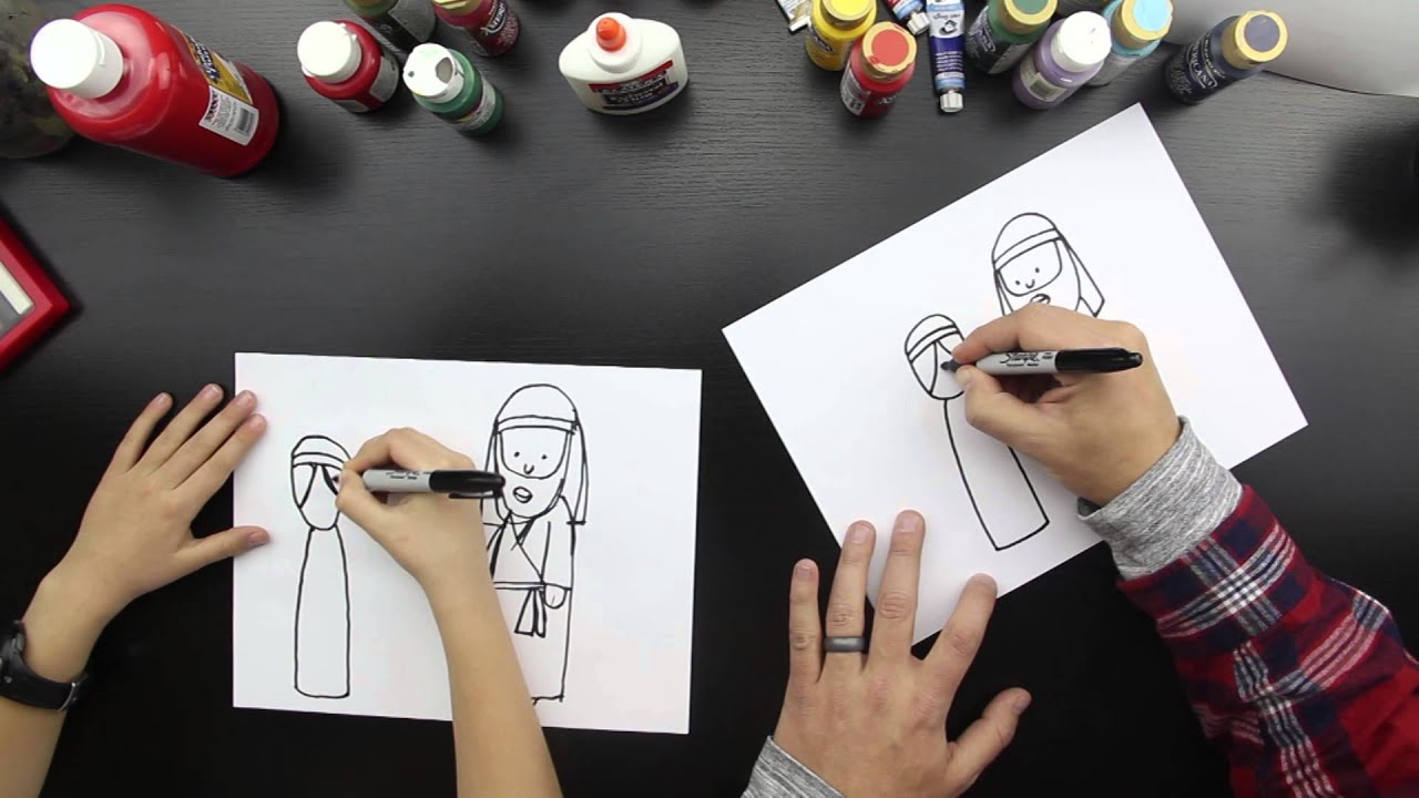 a38d1a84441 How To Draw Mary And Joseph - YouTube