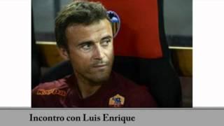 Luis Enrique in allenamento, parla di Totti e del suo gioco