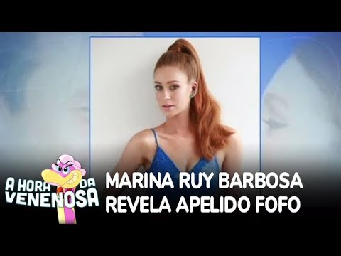 Marina Ruy Barbosa revela apelido fofo