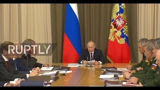 Russia: Putin chairs meeting on Russia's new armaments programme thumbnail