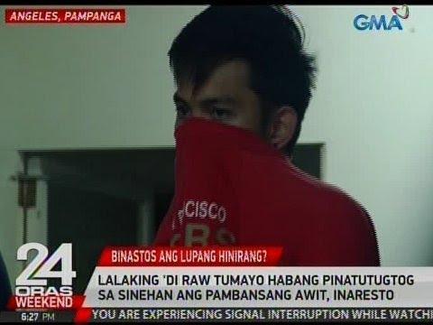 24 Oras: Lalaking 'di raw tumayo habang pinatutugtog sa sinehan ang Pambansang Awit, inaresto