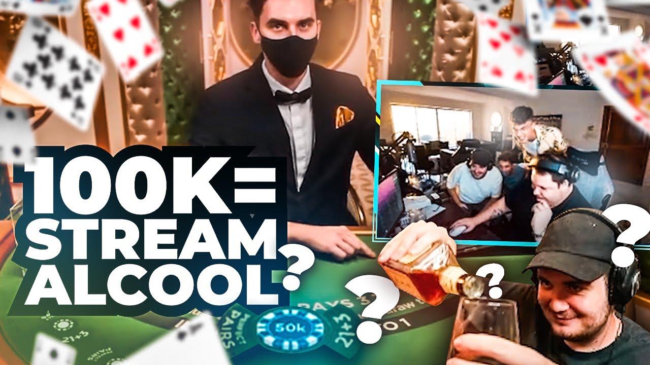 🃏 UNE MAIN à 50.000€ gagnée = STREAM ALCOOL ft @TeufeurS ?  ~ (100% BLACKJACK)