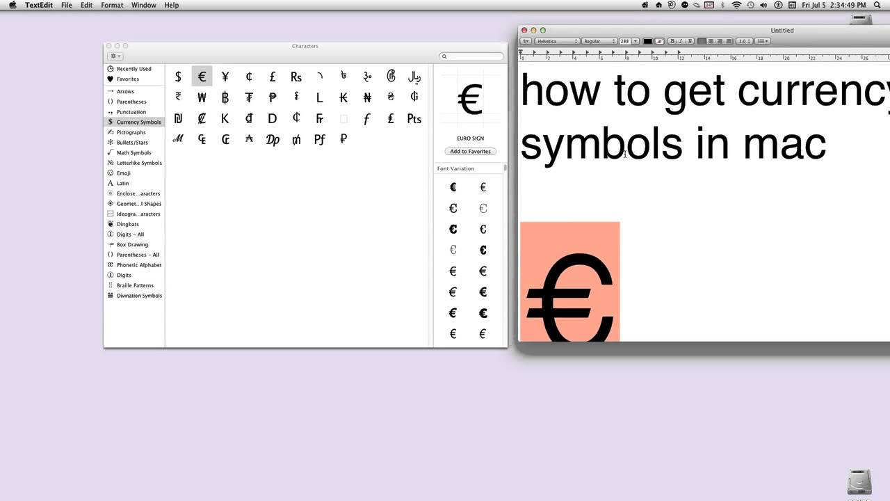 How to get currency symbols in mac youtube how to get currency symbols in mac biocorpaavc Images