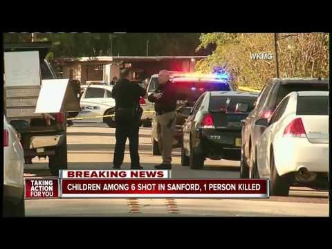 Children among 6 shot in Sanford, 1 person dead