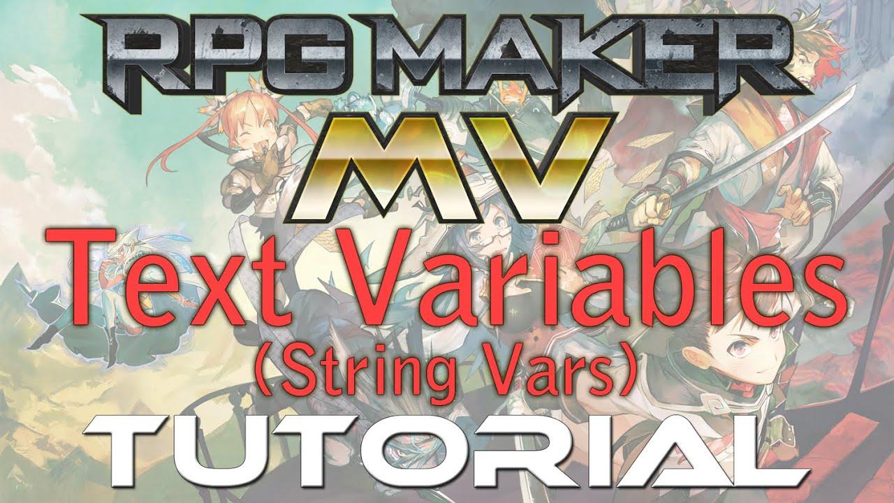 RPG Maker MV Tutorial: Text Variables