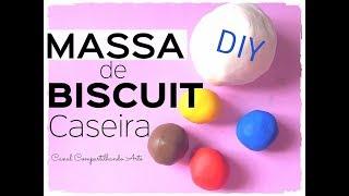 Como fazer MASSA de BISCUIT CASEIRA e colorida – Dica econômica de Artesanato