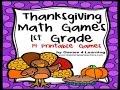 Thanksgiving Math Games Grade 1