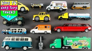 City Vehicles For Kids Children Babies | Learn Street Vehicles | Emergency Vehicle | Car Cartoons