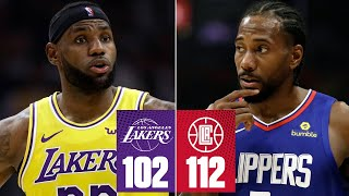Lakers-Clippers highlights: Kawhi drops 30 in LA debut | 2019-20 NBA Highlights Video