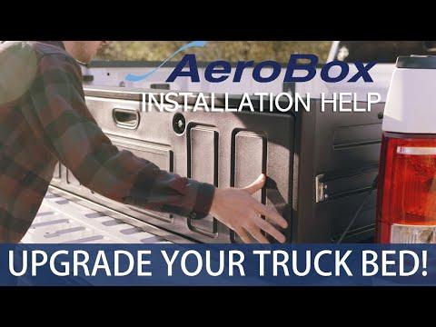 Aerobox Installation Video Premium Version Removable Pickup Truck Bed Storage Box Cargo Organizer Youtube