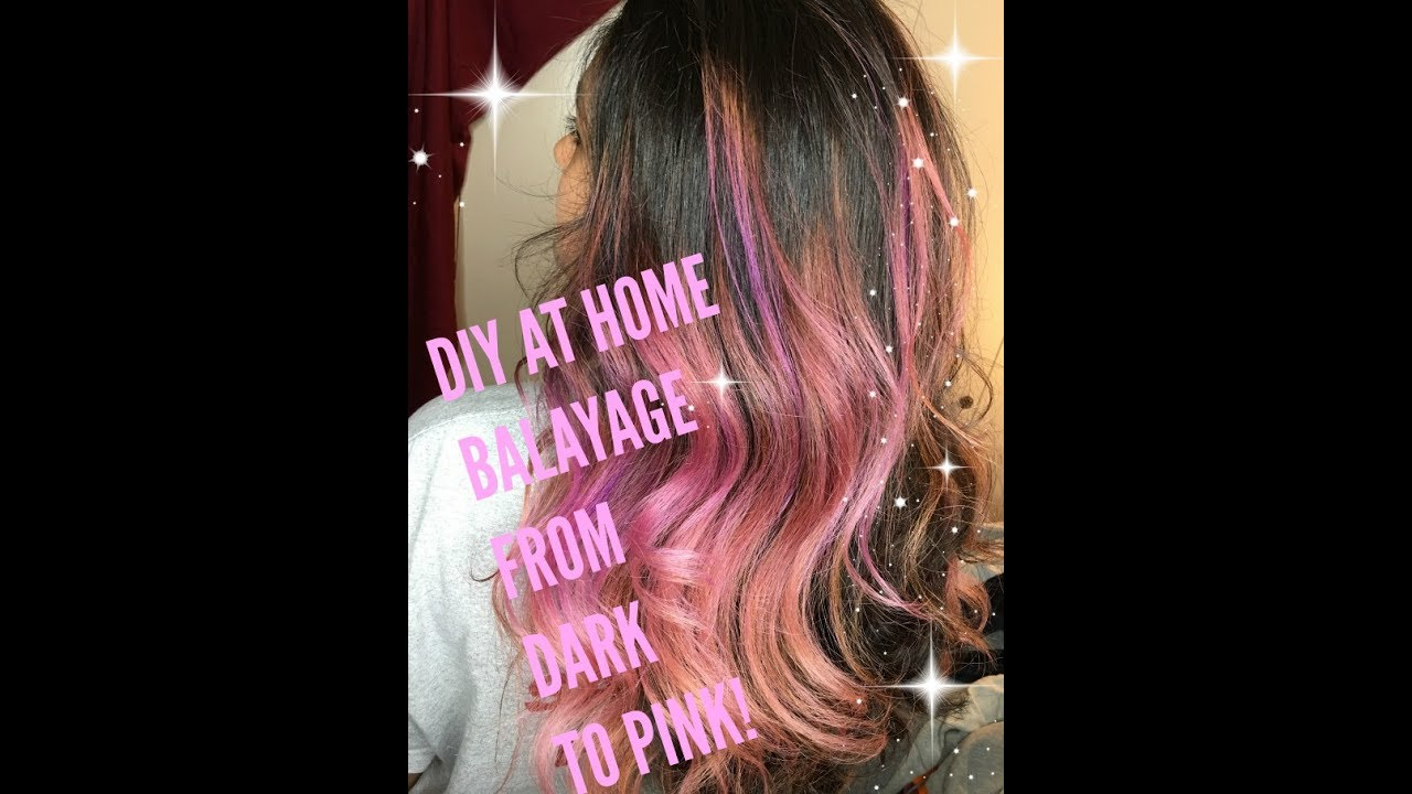 How To Balayage Dark Hair Pink On Virgin Thick Hispanic Hair