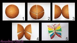 Schmetterling aus jedem runden Kuchen & Torte ohne extra Backform | butterfly cake | Deko Beispiel
