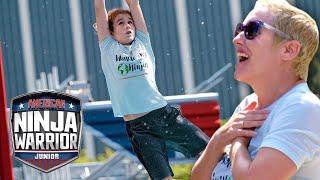 Ninja Kid Runs the Course for His Mom ❤️ | American Ninja Warrior Junior | Universal Kids